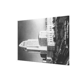 Los Ángeles ayuntamiento CA y opinión de la ciuda Lona Estirada Galerías