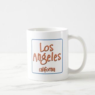 Los Ángeles California BlueBox Taza Clásica