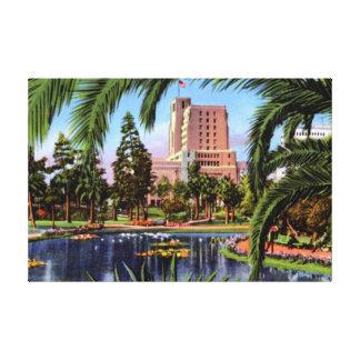 Los Ángeles California Douglas Macarthur Park Impresión En Lienzo Estirada