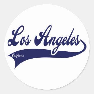 Los Ángeles California Pegatinas Redondas