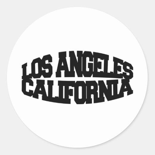 Los Ángeles California Etiqueta Redonda