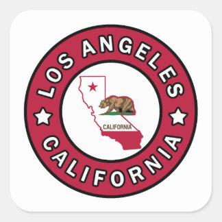 Los Ángeles California Pegatina Cuadrada