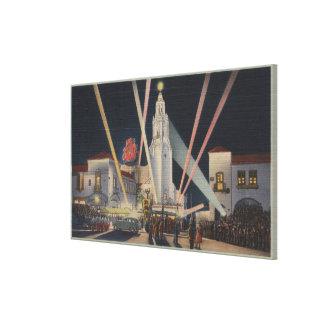 Los Ángeles CAPremier teatro del círculo de Cart Impresión En Lienzo Estirada