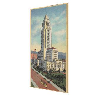 Los Ángeles CAView ayuntamiento y teleférico Impresiones En Lona Estiradas