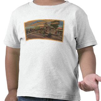 Los Ángeles, CAView de la plaza en Chinatown Camisetas