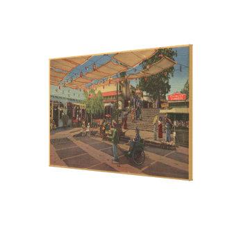 Los Ángeles CAView de la plaza en Chinatown Lona Estirada Galerias