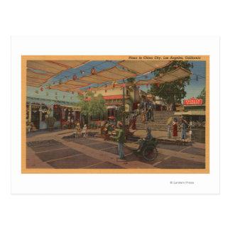 Los Ángeles, CAView de la plaza en Chinatown Postal