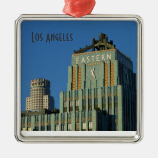 Los Ángeles céntrico Adorno Navideño Cuadrado De Metal