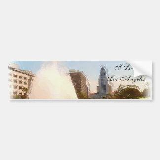 Los Ángeles, céntrico ayuntamiento y Fountains_ Pegatina Para Coche