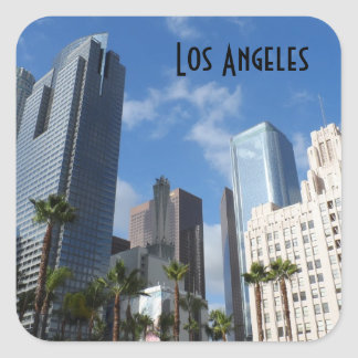 Los Ángeles céntrico Pegatina Cuadrada