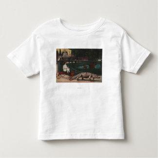 Los Ángeles, chica de CAAlligator FarmPulling Camiseta De Niño