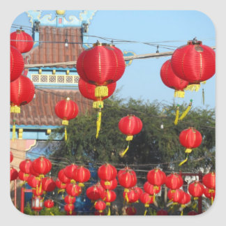 Los Ángeles Chinatown Pegatina Cuadrada