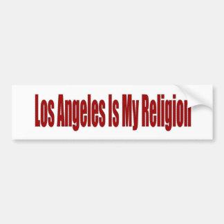 Los Ángeles es mi religión Pegatina Para Coche