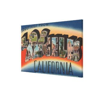Los Ángeles escenas 3 de la letra de CaliforniaLa Lienzo Envuelto Para Galerias