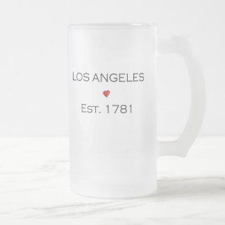 Los Ángeles Est. 1781 Taza Cristal Mate