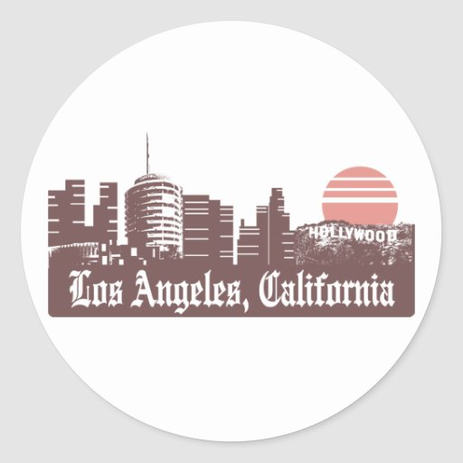 Los Ángeles Linesky Etiqueta Redonda
