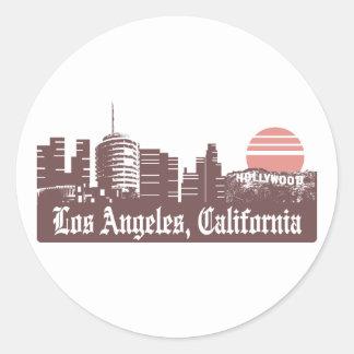 Los Ángeles Linesky Pegatina Redonda