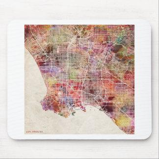 Los Ángeles map Alfombrilla De Ratón