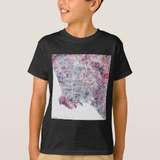 Los Angeles map California watercolor painting Camiseta