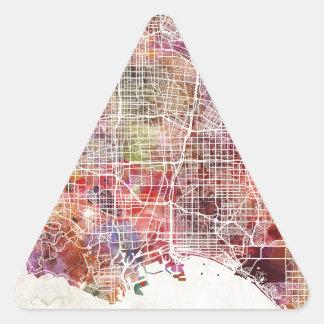 Los Ángeles map Pegatina Triangular