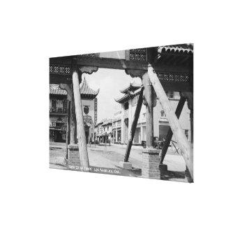 Los Ángeles nueva Chinatown escena de la calle de Impresión En Lienzo Estirada