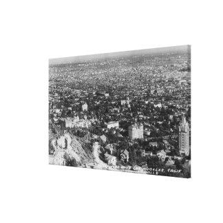 Los Ángeles opinión de CA de Hollywood Hills Impresión En Lona Estirada