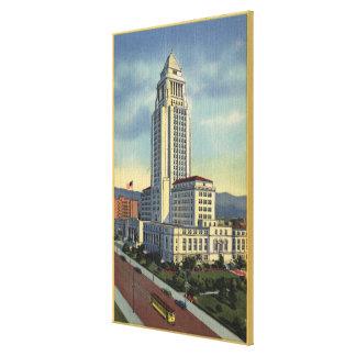Los Ángeles, opinión de CaliforniaA ayuntamiento Impresiones En Lienzo Estiradas