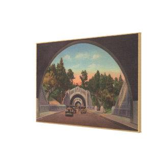 Los Ángeles opinión de CATunnel del parque elíseo Impresión En Lona