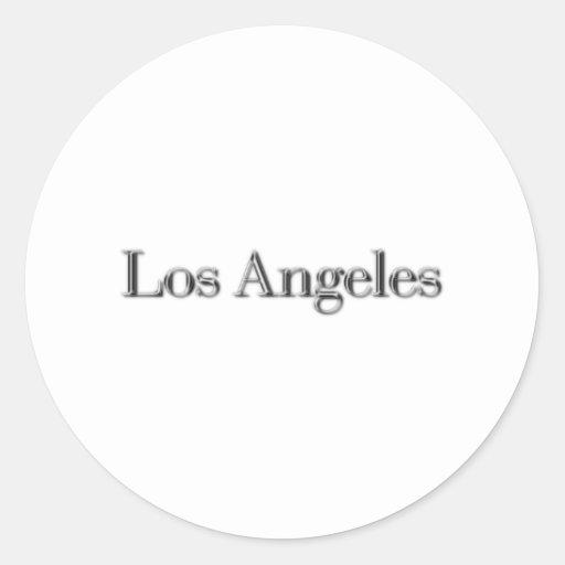 Los Ángeles Pegatinas Redondas
