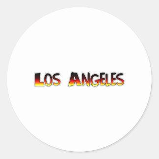 Los Ángeles Pegatina Redonda