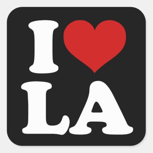 Los Ángeles Calcomania Cuadradas Personalizadas