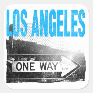 Los Ángeles Pegatinas Cuadradas