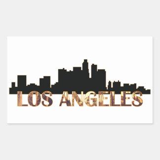 Los Ángeles Pegatina Rectangular