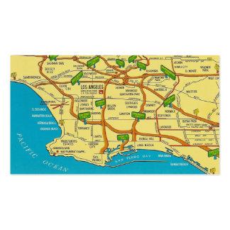Los Ángeles retro Tarjeta De Visita