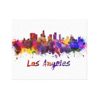 Los Angeles skyline in watercolor Lona Estirada Galerías