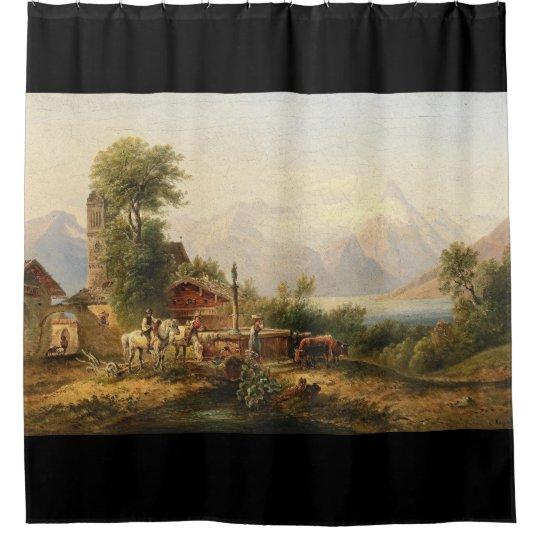 Los animales de las montañas manan cortina de