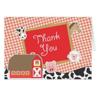 Los animales del campo le agradecen las tarjetas