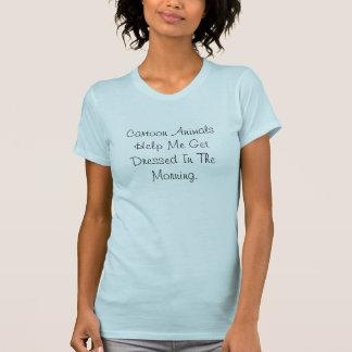 Los animales del dibujo animado me ayudan a camisetas