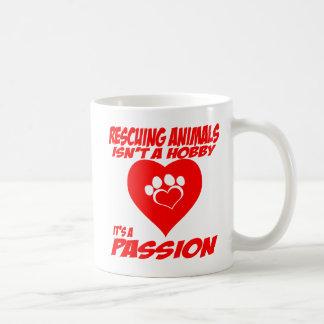 Los animales del rescate son una taza de la pasión