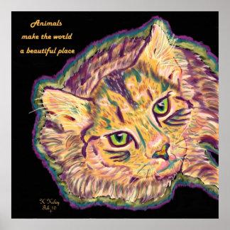 Los animales hacen el mundo un poster hermoso del