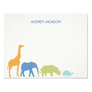 Los animales manchados le agradecen las tarjetas - invitación 10,8 x 13,9 cm