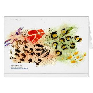 Los animales salvajes diseñan la tarjeta en blanco