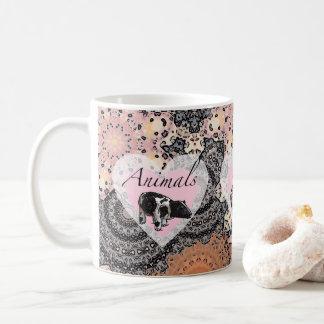 Los animales tienen corazones taza de café