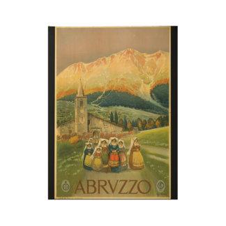 Los años 20 de Abruzos Roma del viaje del vintage Póster De Madera