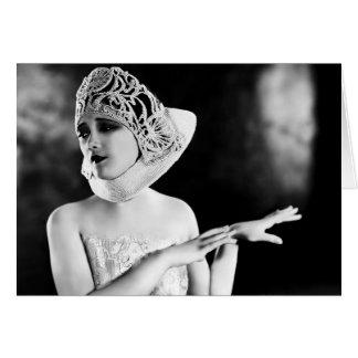 Los años 20 de Jetta Goudal Tarjeta De Felicitación