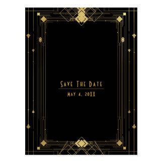 Los años 20 negros del rugido de Deco Gatsby del Postal