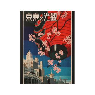 Los años 30 de Japón del viaje del vintage Póster De Madera