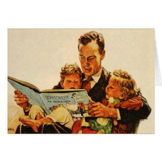 Los años 40 de los niños de la lectura de la tarje tarjeta de felicitación