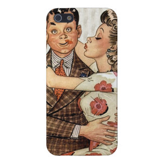Los años 40 retros que besan pares iPhone 5 fundas