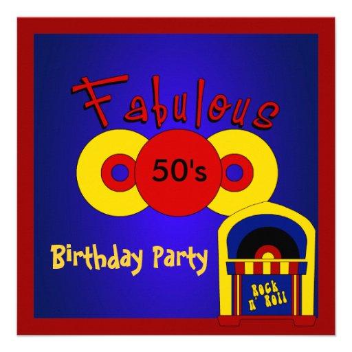 Los años 50 fabulosos de la fiesta de cumpleaños d anuncio